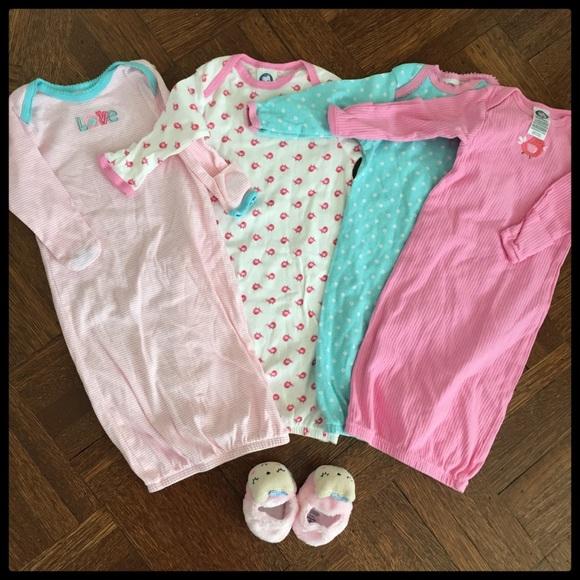 Gerber Pajamas Baby Sleep Gown Slippers Bundle | Poshmark